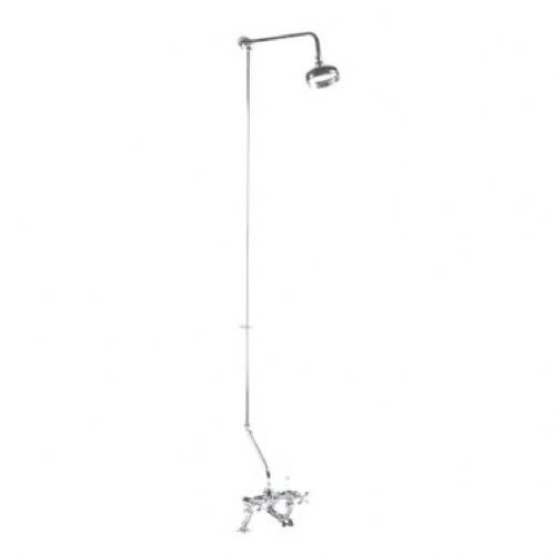 Traditional Chrome Rigid Riser Kit For Bath Shower Mixers